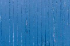 Le bois superficiel par les agents et texturisé a peint bleu photographie stock