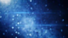 Le bokeh bleu allume le fond Image libre de droits