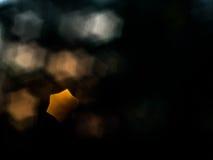 Le bokeh d'étoile sont à un arrière-plan noir Photos libres de droits