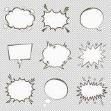 Le bolle comiche di discorso hanno impostato Elementi vuoti di dialogo del fumetto nello stile di Pop art Vettore royalty illustrazione gratis