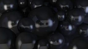Le bolle di sapone 3d rendono il fondo fotografie stock libere da diritti