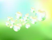 Le bolle di sapone pilotano l'illustrazione di vettore del fondo illustrazione vettoriale