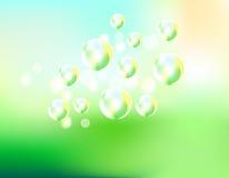 Le bolle di sapone pilotano l'illustrazione di vettore del fondo royalty illustrazione gratis