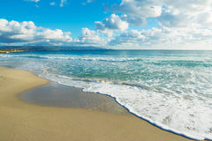 Le Bombarde beach on a cloudy day Royalty Free Stock Photo