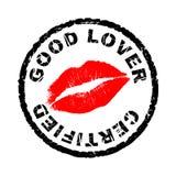 Le bon amoureux a certifié Photo stock