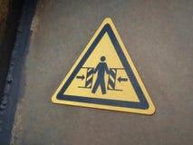 Le bon sens d'Entre, avertissement panneau dans le port de Den Helder Netherlands image libre de droits