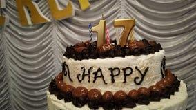 Le bonbon seventen le gâteau photographie stock