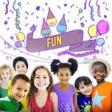 Le bonheur apprécient l'amusement Jolly Festive Concept image libre de droits