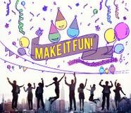 Le bonheur apprécient l'amusement Jolly Festive Concept Image stock