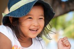 Le bonheur est le sourire d'un enfant Images libres de droits