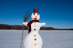 Le bonhomme de neige Photos stock