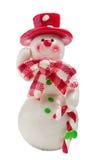 Le bonhomme de neige de Noël de jouet a isolé Photos stock