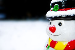 Le bonhomme de neige isolé Images libres de droits