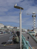 Le bord de Brighton - mer photo stock