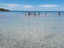 Le bord de la mer de la Sardaigne Photo libre de droits
