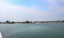 Le bord de la mer, le Mamaia et le x28 ; Constanta& x29 ; images libres de droits