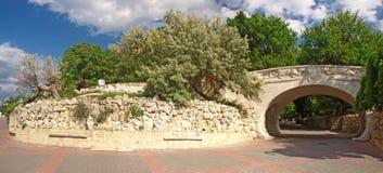 Le bord de mer central de Sébastopol. Panorama photographie stock libre de droits