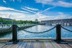 Le bord de mer dans North End de Boston, le Massachusetts Photo libre de droits