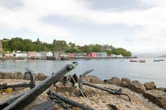 Le bord du quai à tobermory Images libres de droits