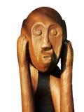Le Bornéo. Sculpture mâle en pierre/plâtre (4of6) Photographie stock