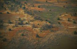 Le Botswana : Airshot du l'Okavango-delta inonde au central photos libres de droits