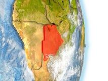 Le Botswana en rouge sur terre illustration de vecteur