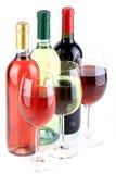 Le bottiglie del vino Immagini Stock