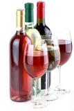 Le bottiglie del vino Immagine Stock