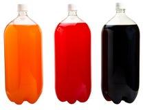 Le bottiglie di soda hanno isolato Fotografia Stock