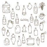 Le bottiglie vector l'insieme illustrazione di stock