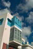 Le bou de Sidi a indiqué/village bleu et blanc Photographie stock libre de droits