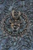 Le Bouclier de fördärvar skulptur Royaltyfria Bilder