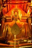 Le Bouddha d'or géant Images libres de droits