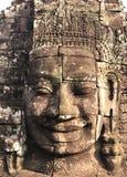 Le Bouddha de sourire font face photo libre de droits