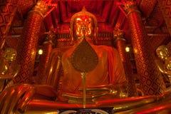Le Bouddha de Wat Phananchoeng Worawihan Photo libre de droits