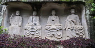 Le Bouddha en montagne de lingyun dans Sichuan, porcelaine Photographie stock libre de droits