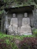 Le Bouddha en montagne de lingyun dans Sichuan, porcelaine Photos stock