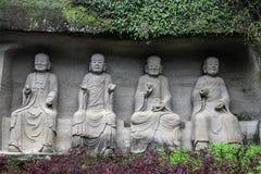 Le Bouddha en montagne de lingyun dans Sichuan, porcelaine Images stock