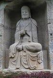 Le Bouddha en montagne de lingyun dans Sichuan, porcelaine Images libres de droits