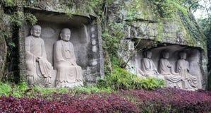 Le Bouddha en montagne de lingyun dans Sichuan, porcelaine Photo stock