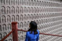 Le Bouddha en montagne de lingyun dans Sichuan, porcelaine Photographie stock