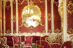 Le boudoir de l'impératrice Maria Alexandrovna, St Petersburg Russie Image libre de droits