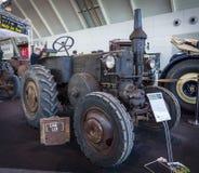 Le bouledogue moteur d'ampoule de D7511 (à deux temps, chaud) de Lanz de tracteur, construit par Heinrich Lanz AG à Mannheim, 193 Images stock