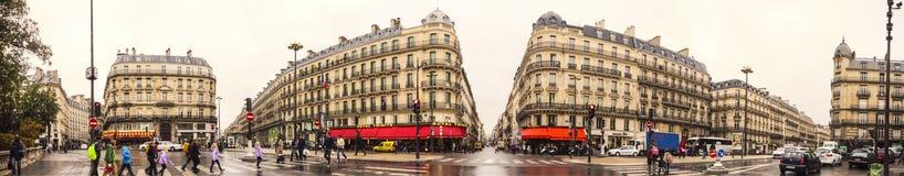 Le boulevard Haussmann Photo libre de droits