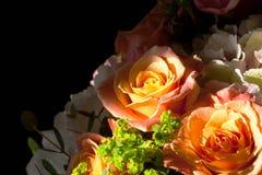 Le bouquet étonnant des roses s'est allumé par le soleil Photo libre de droits