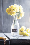 Le bouquet avec rose et le lettrage vous remercient Photo libre de droits