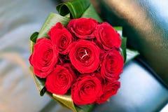 Le bouquet de la belle mariée Image stock