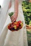Le bouquet de la mariée Photographie stock