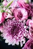 Le bouquet du rose fleurit le plan rapproché, l'eustoma et le chrysanthème Image stock