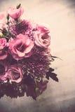 Le bouquet du rose fleurit le plan rapproché, l'eustoma et le chrysanthème Images libres de droits